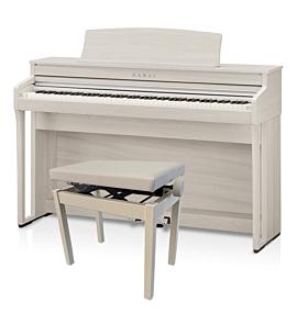 Kawai CA-49 Hvid Ask Digital Piano m. bænk