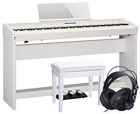 Roland FP-60 i Hvid m. Fuldt Setup + Bænk og Hovedtelefoner