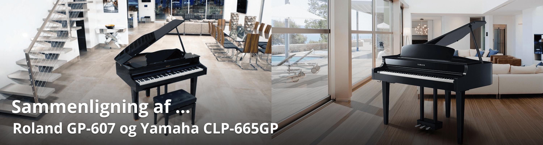 Sammenligning af Yamaha CLP-665GP og Roland GP-607