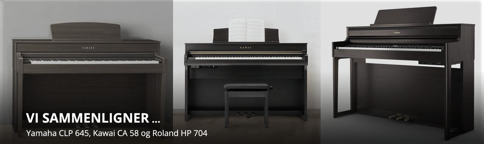 Sammenligning af CA 58, CLP 645 og HP 704