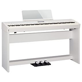 Roland FP-60 White with Complete Setup (KSC-72 + KPD-90)
