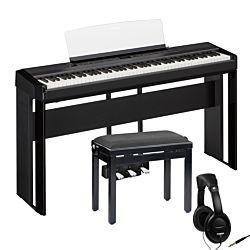 Yamaha P-515 Svart med full uppsättning + Pianobänk och Hörlurar