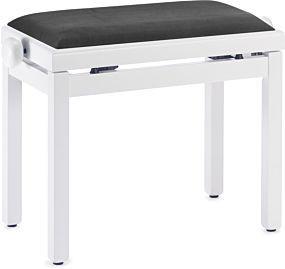 Pianopall i vit satinfärg