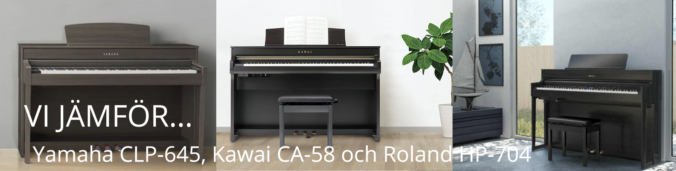 Jämförelse av CA 58, CLP 645 och HP 704