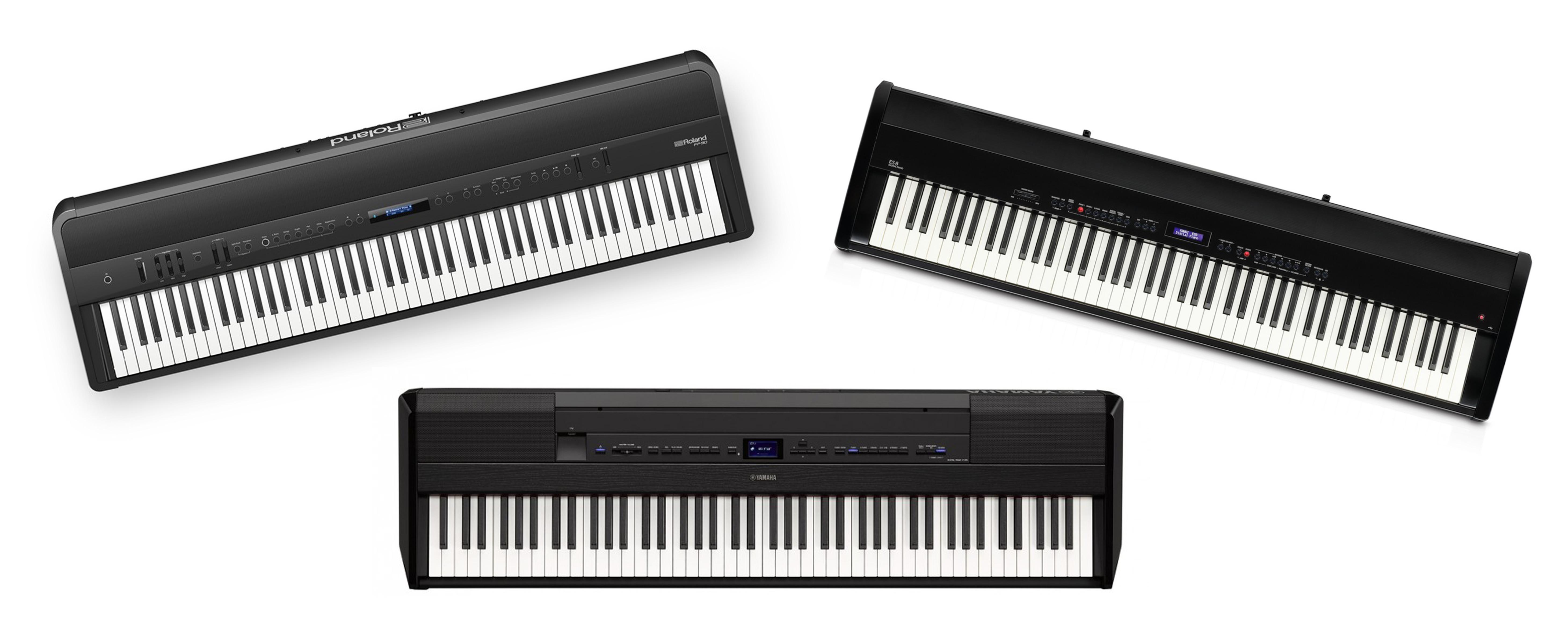 Roland FP-90, Yamaha P-515 och Kawai ES-8 Stage Pianon jämförelse
